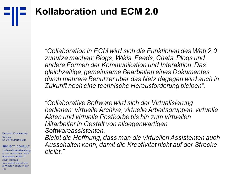 Kollaboration und ECM 2.0