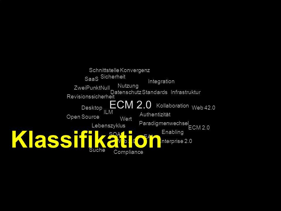 Klassifikation ECM 2.0 Schnittstelle Konvergenz Sicherheit SaaS