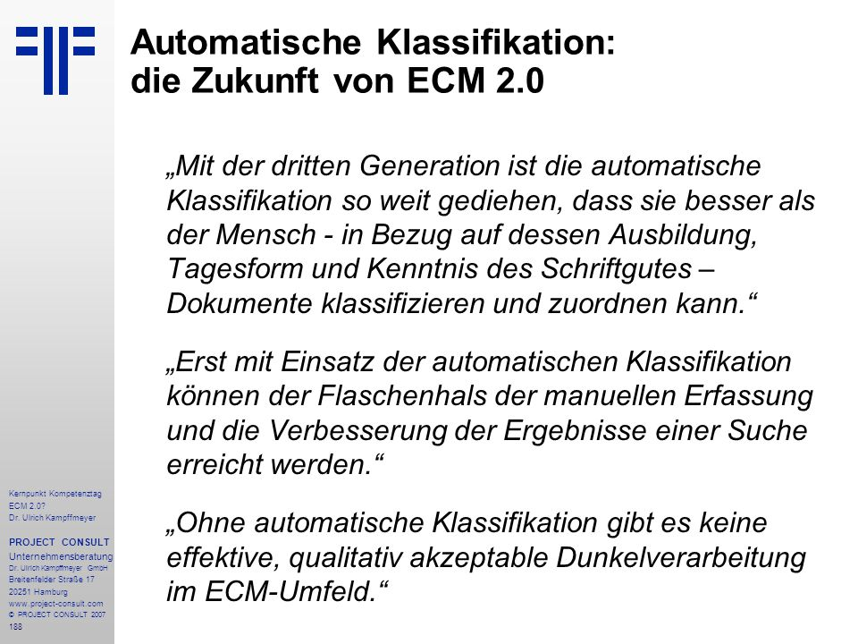 Automatische Klassifikation: die Zukunft von ECM 2.0