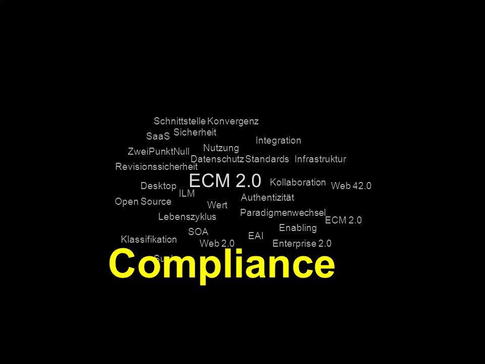 Compliance ECM 2.0 Schnittstelle Konvergenz Sicherheit SaaS