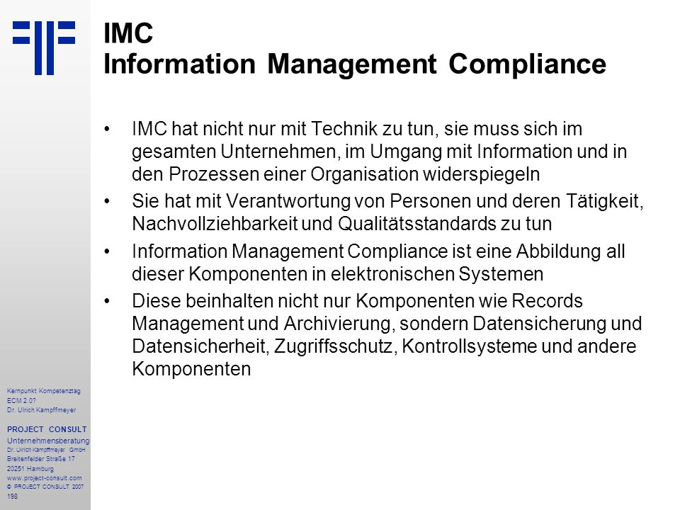 IMC Information Management Compliance