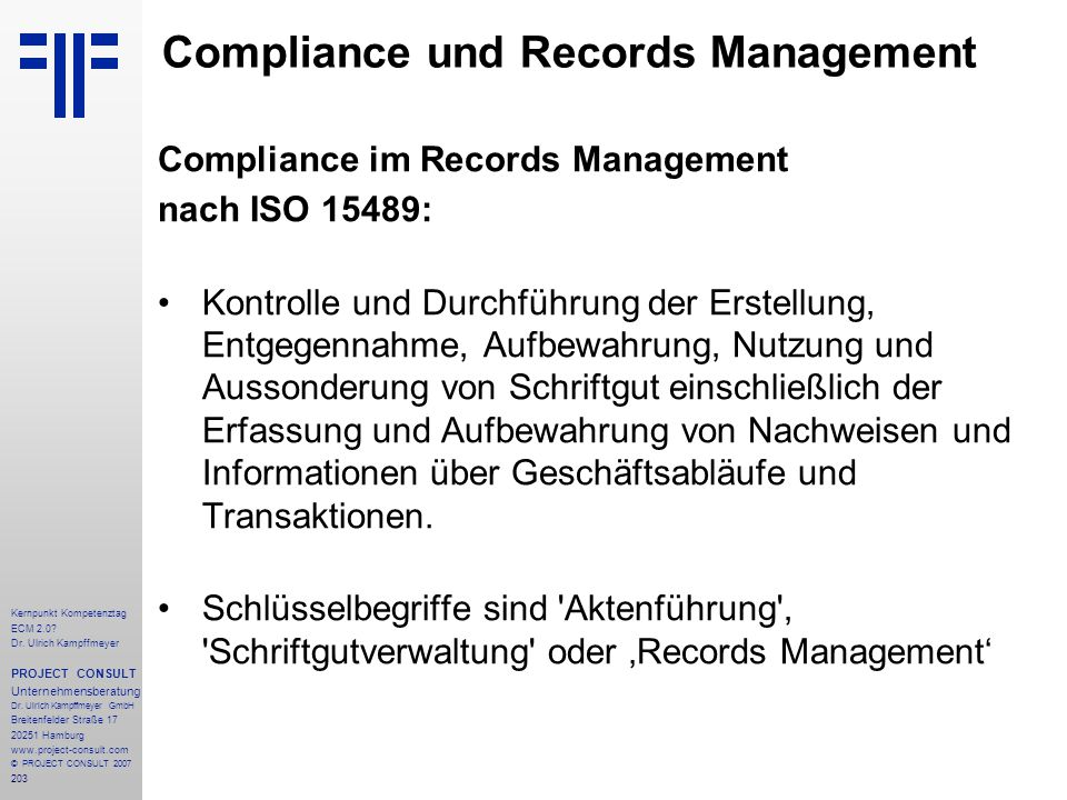 Compliance und Records Management