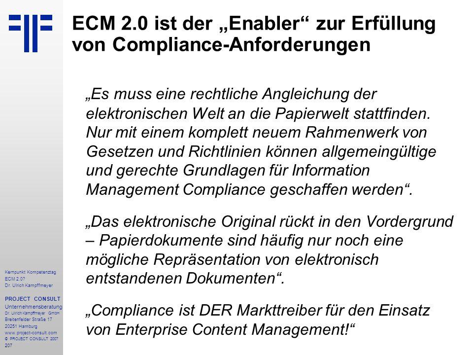 """ECM 2.0 ist der """"Enabler zur Erfüllung von Compliance-Anforderungen"""