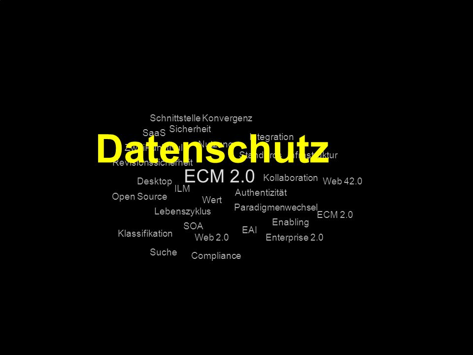 Datenschutz ECM 2.0 Schnittstelle Konvergenz Sicherheit SaaS