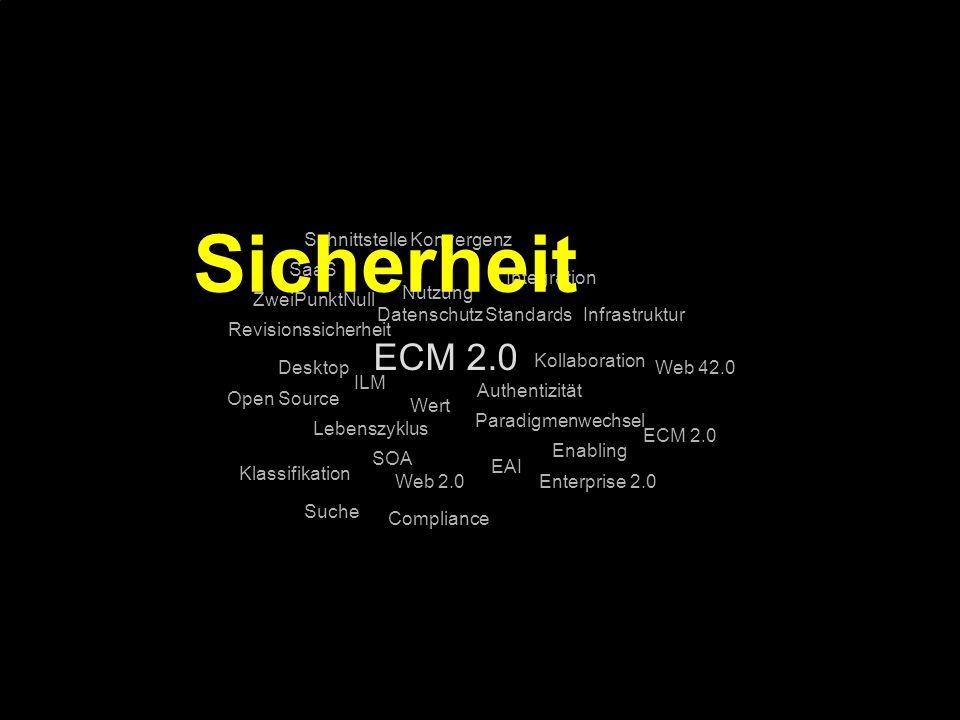 Sicherheit ECM 2.0 Schnittstelle Konvergenz SaaS Integration Nutzung