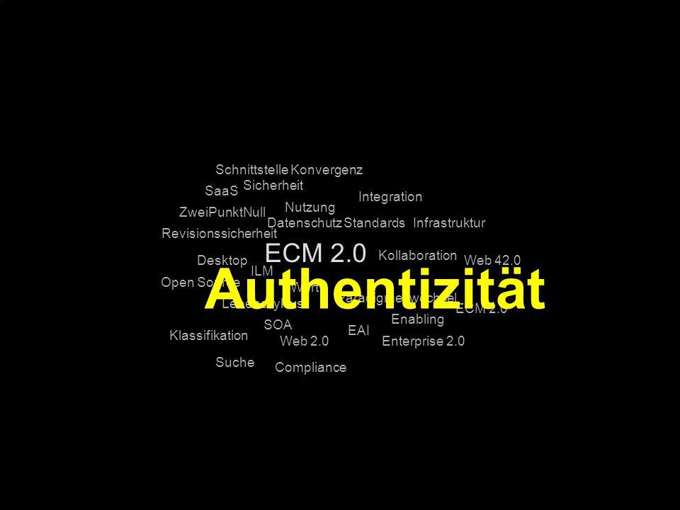Authentizität ECM 2.0 Schnittstelle Konvergenz Sicherheit SaaS