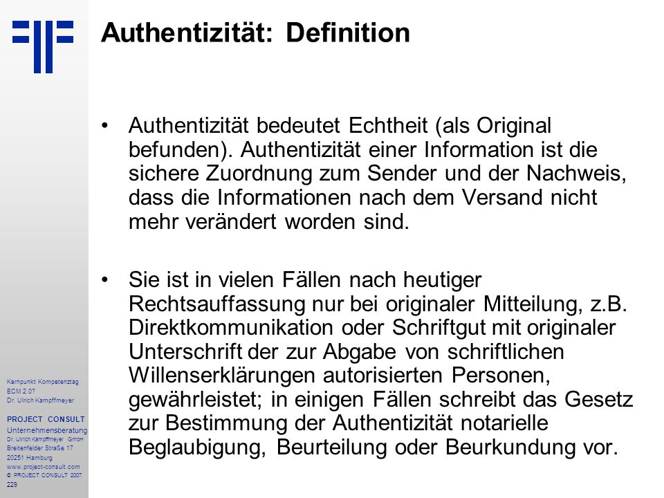 Authentizität: Definition