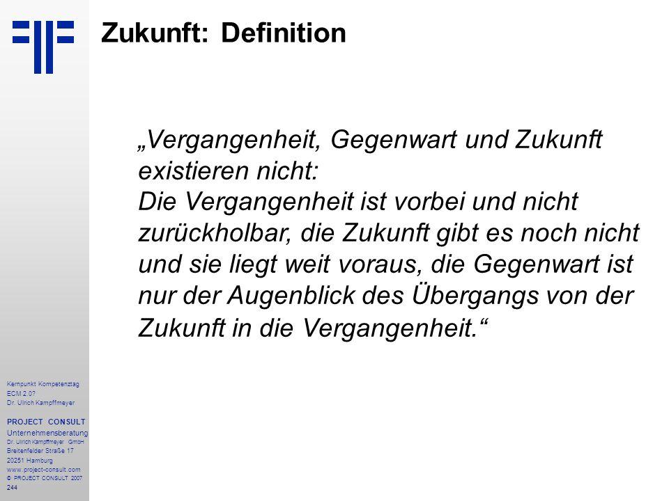 Zukunft: Definition