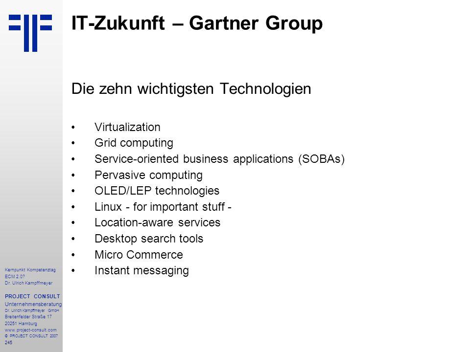 IT-Zukunft – Gartner Group