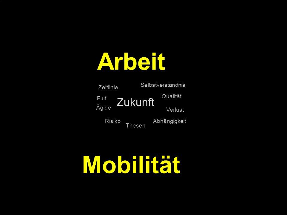 Arbeit Mobilität Zukunft Selbstverständnis Zeitlinie Qualität Flut