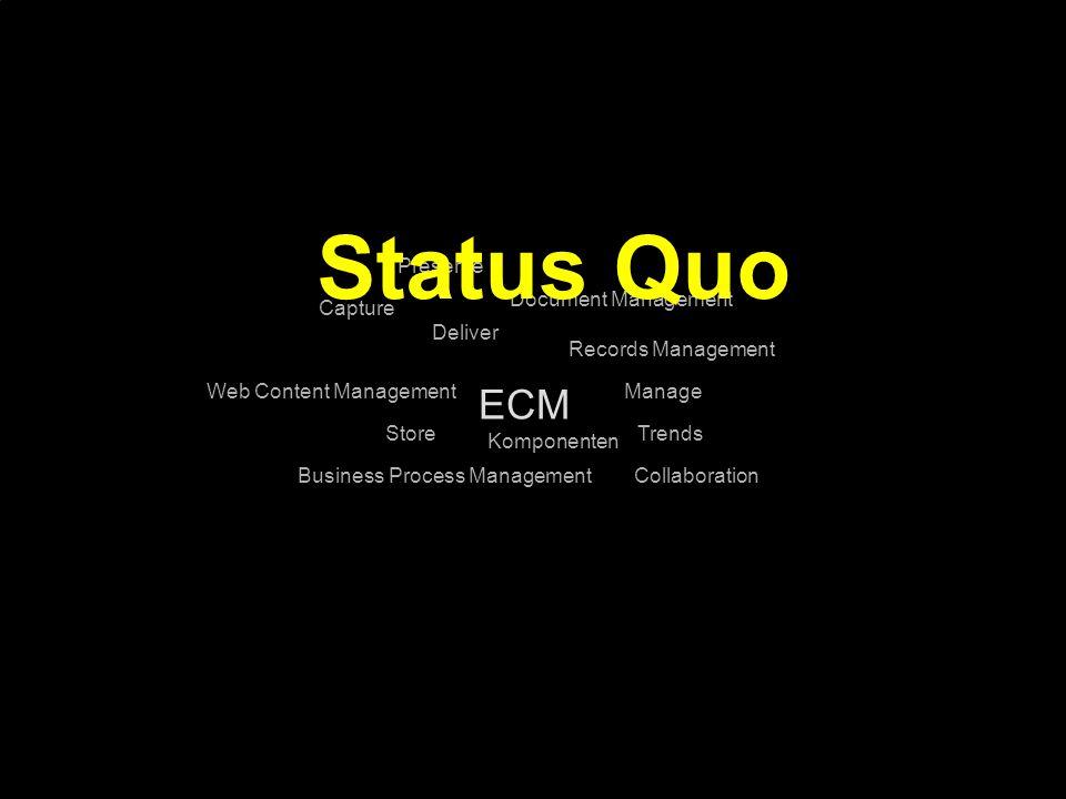 Status Quo ECM Preserve Document Management Capture Deliver