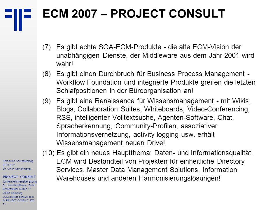 ECM 2007 – PROJECT CONSULT
