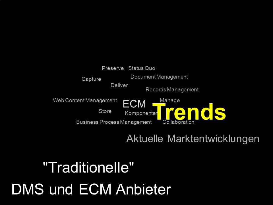 Trends Traditionelle DMS und ECM Anbieter ECM