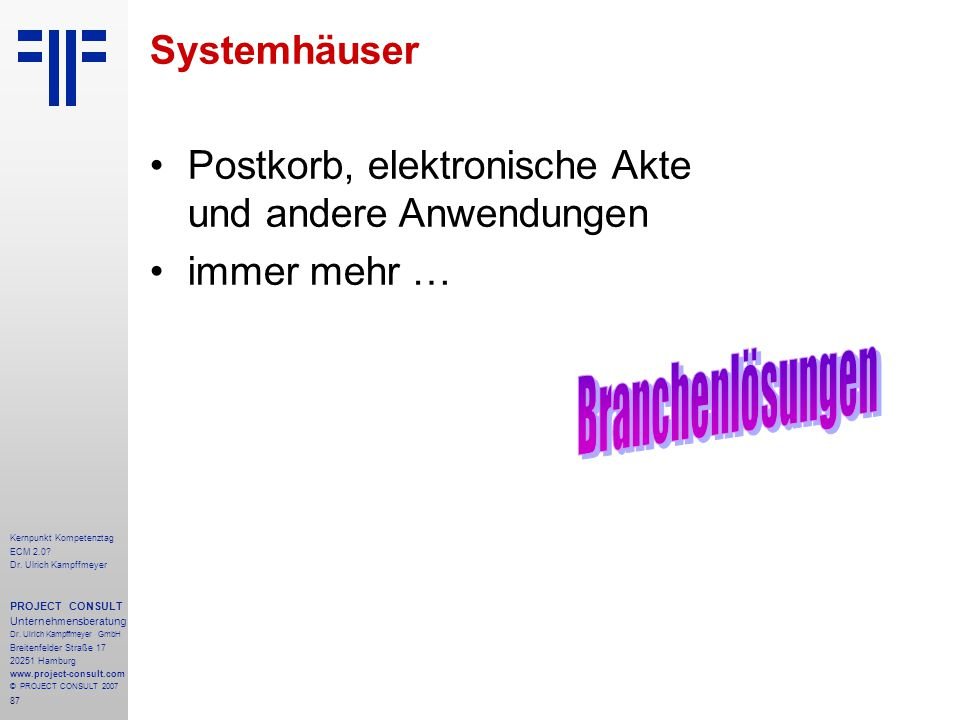 Branchenlösungen Systemhäuser