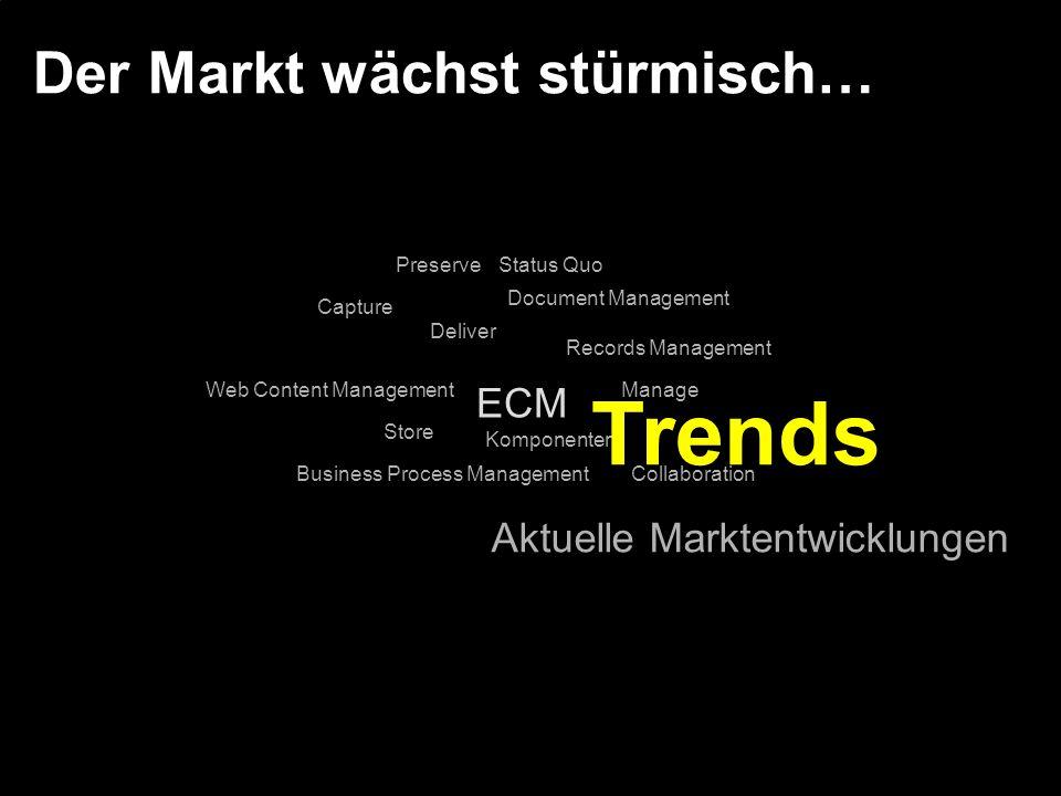 Der Markt wächst stürmisch…