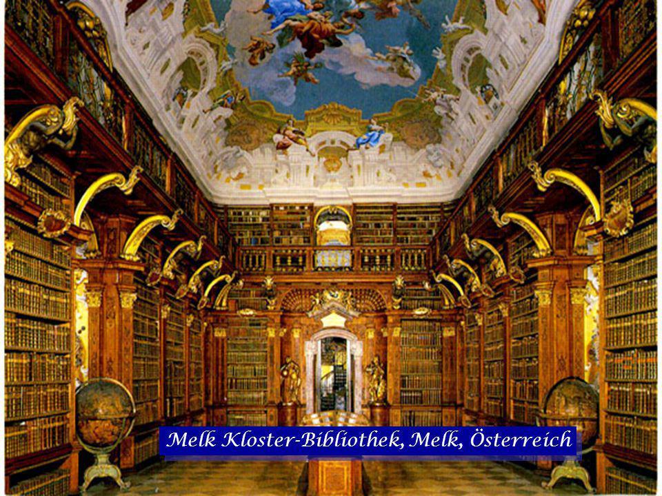 Melk Kloster-Bibliothek, Melk, Österreich