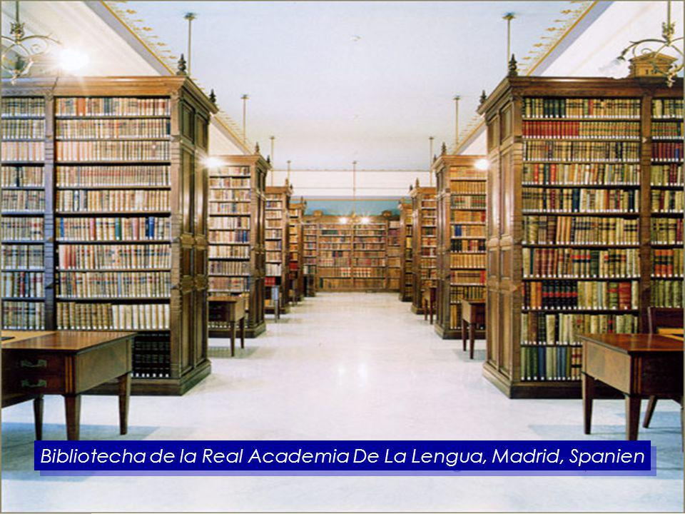 Bibliotecha de la Real Academia De La Lengua, Madrid, Spanien
