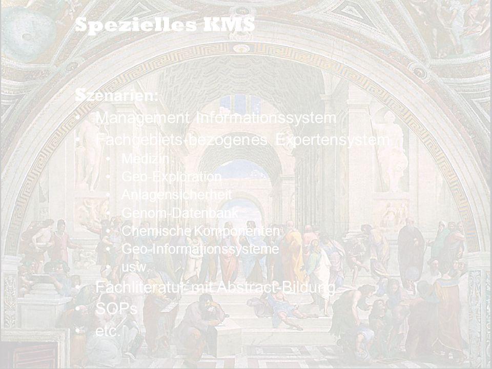 Spezielles KMS Szenarien: Management Informationssystem