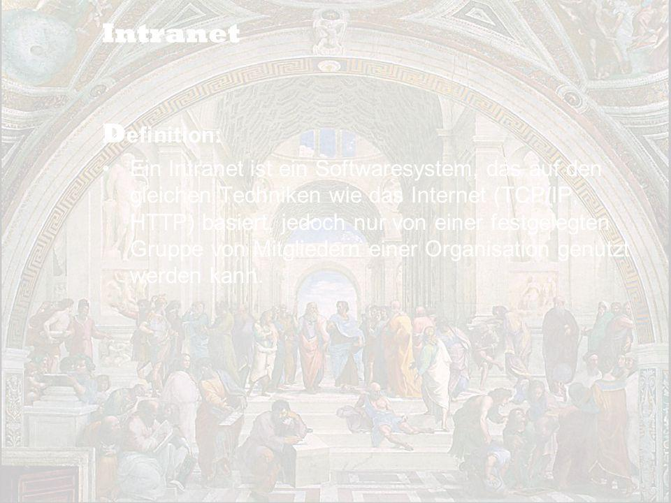 Intranet Definition: