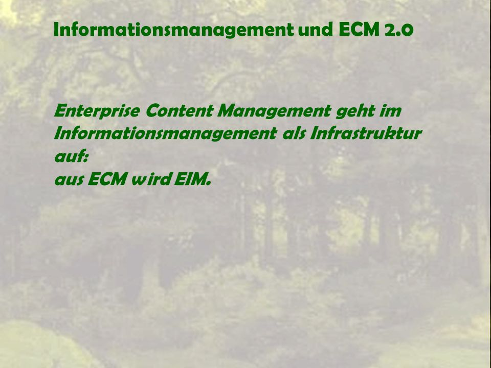 Informationsmanagement und ECM 2.0