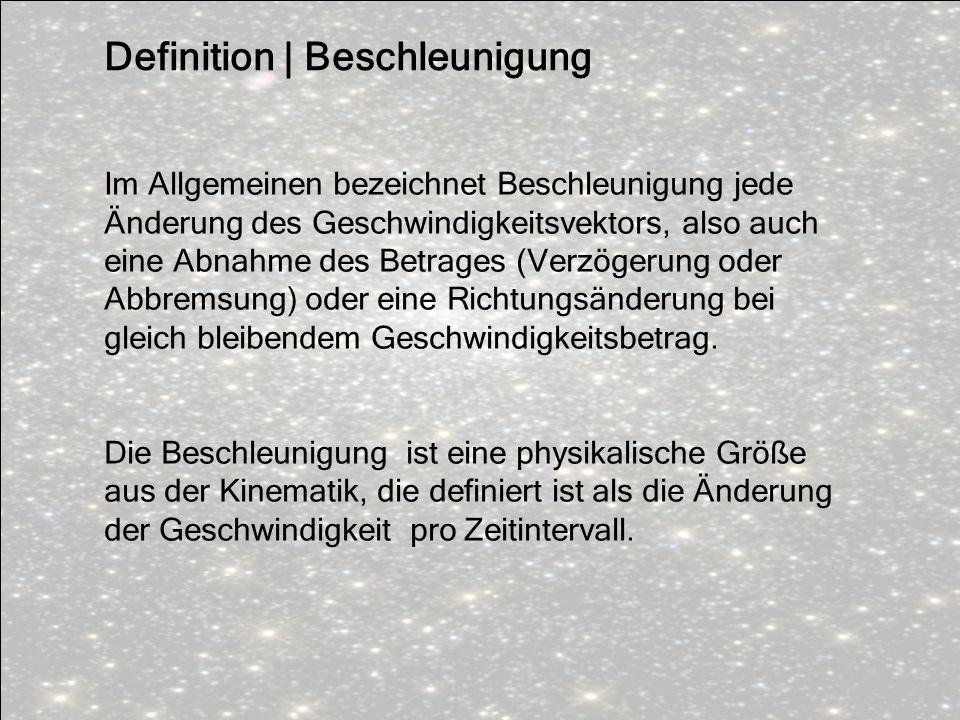 Definition | Beschleunigung