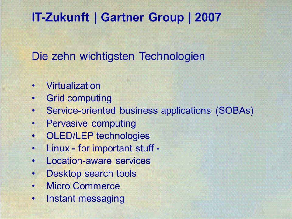 IT-Zukunft | Gartner Group | 2007