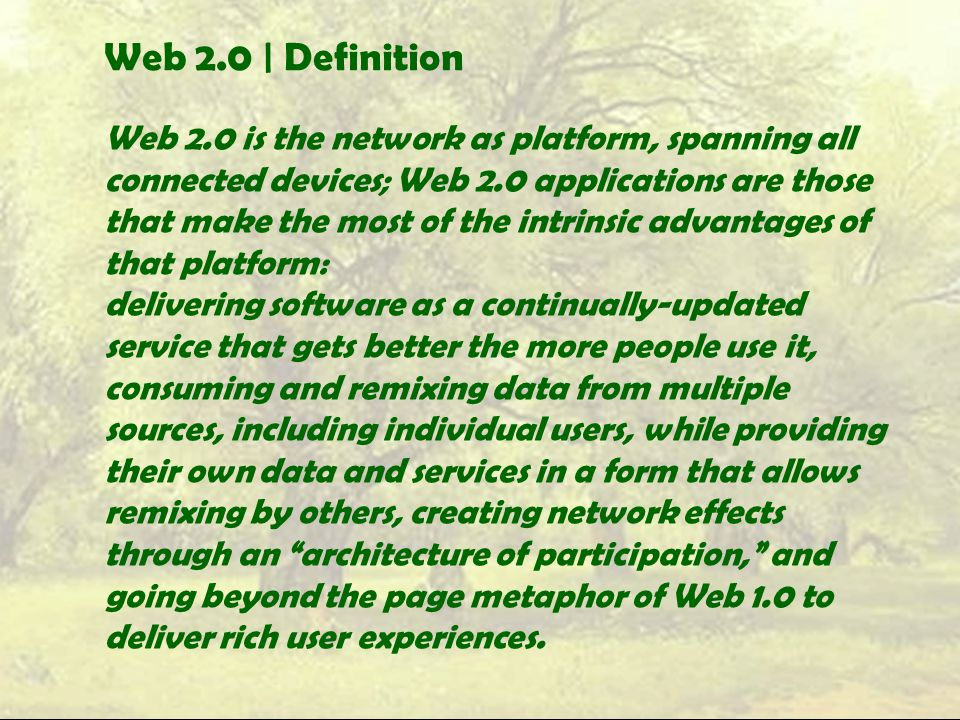 Web 2.0 | Definition