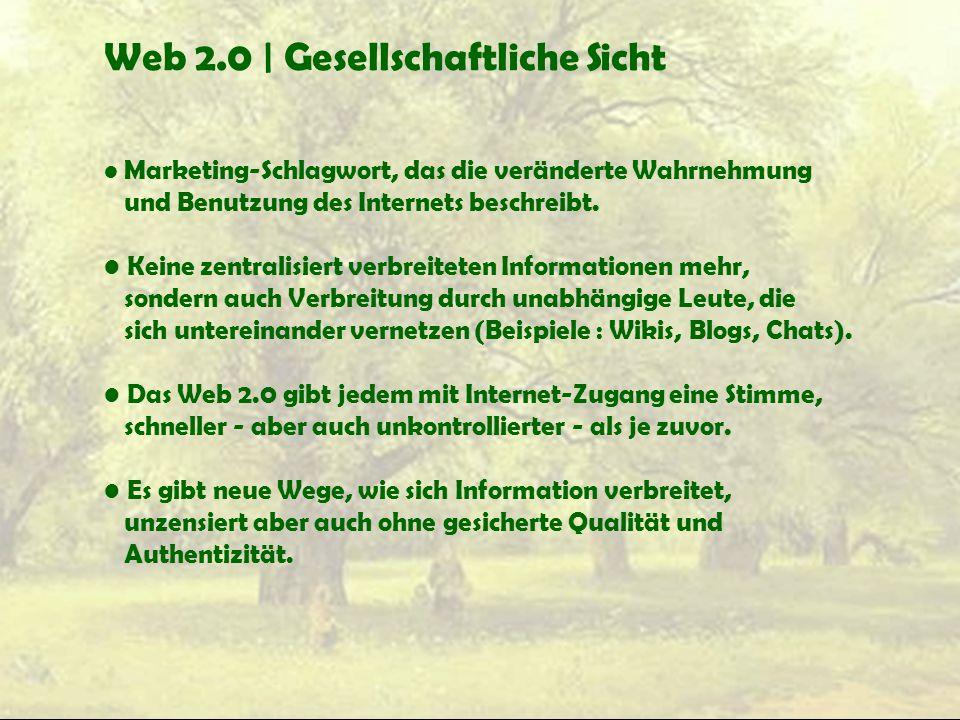 Web 2.0 | Gesellschaftliche Sicht