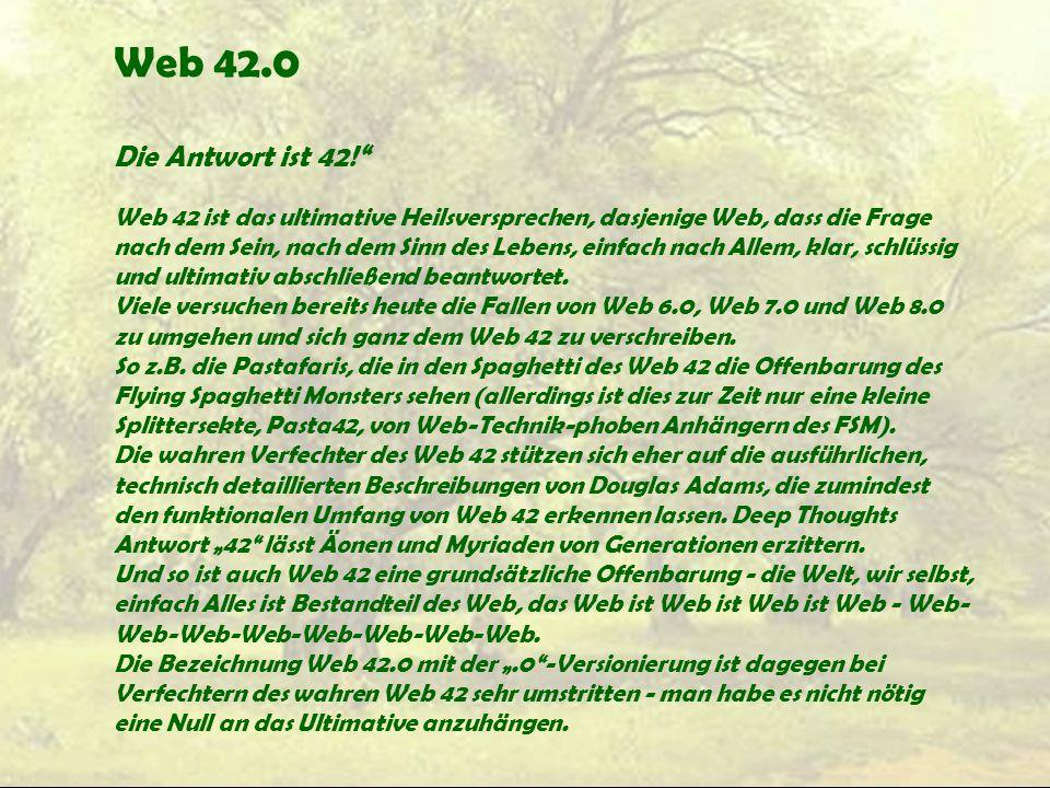 Web 42.0 Die Antwort ist 42!