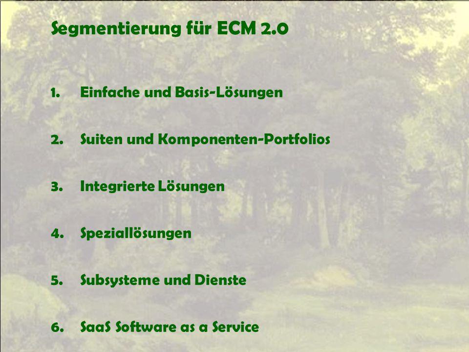 Segmentierung für ECM 2.0 Einfache und Basis-Lösungen