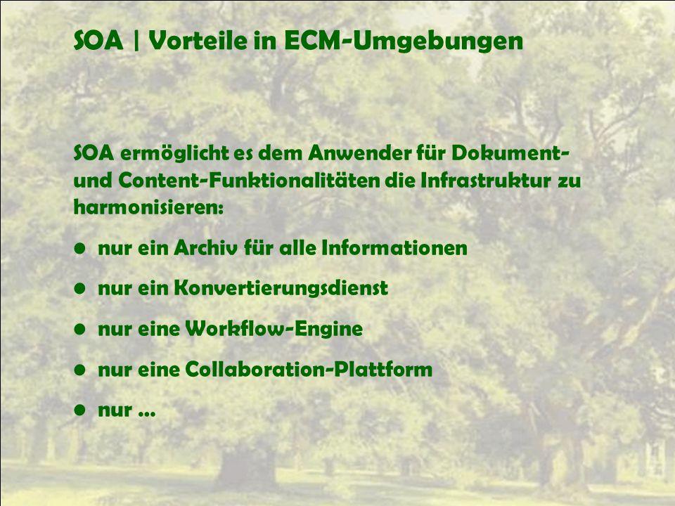 SOA | Vorteile in ECM-Umgebungen
