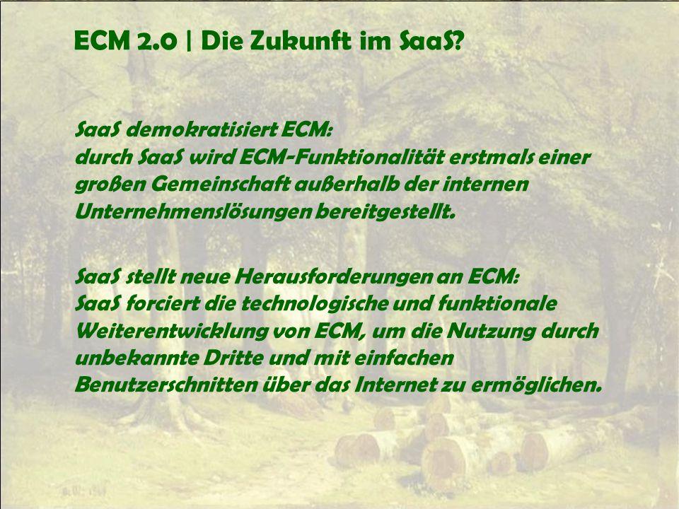 ECM 2.0 | Die Zukunft im SaaS