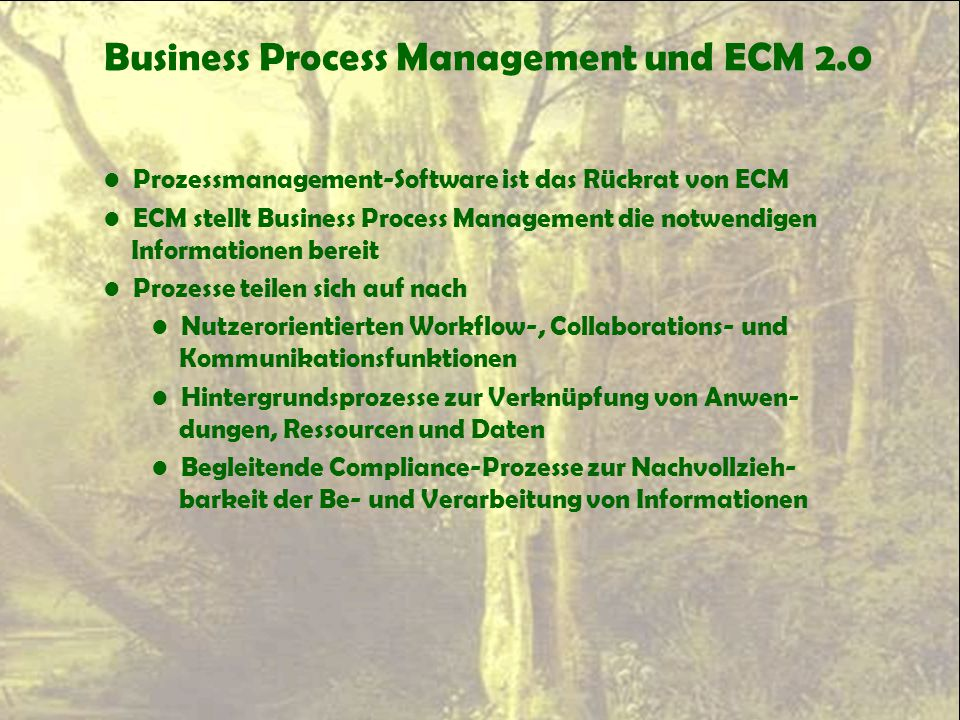 Business Process Management und ECM 2.0