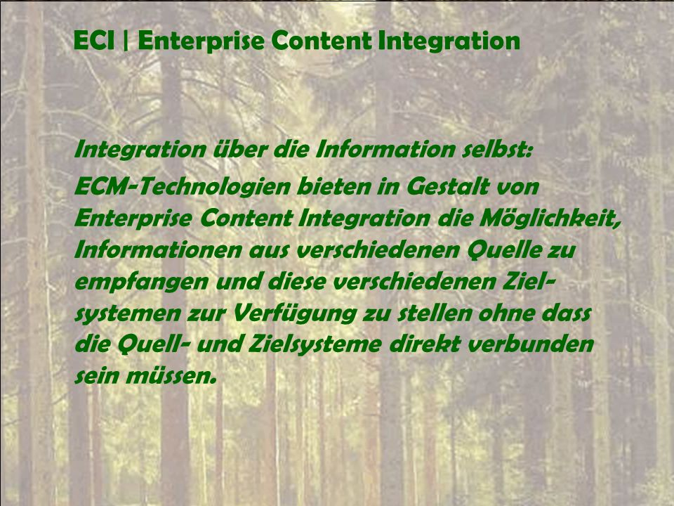 ECI | Enterprise Content Integration