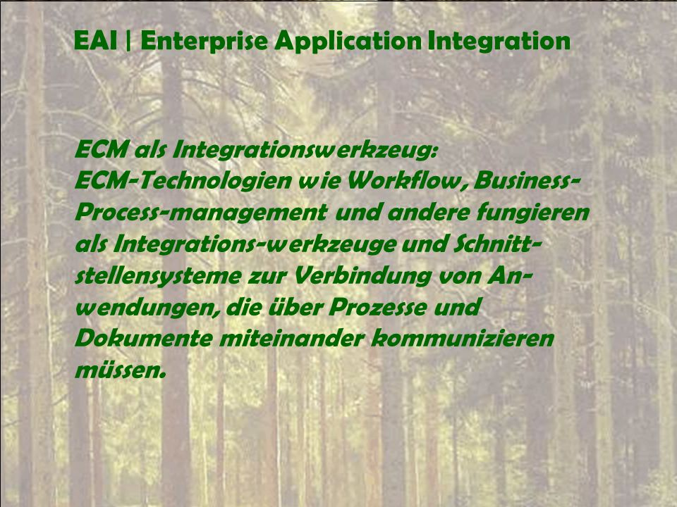 EAI | Enterprise Application Integration