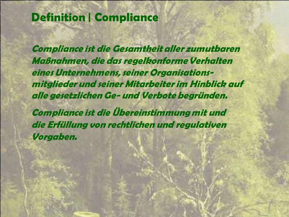 Definition | Compliance