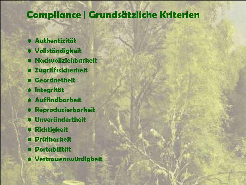 Compliance | Grundsätzliche Kriterien