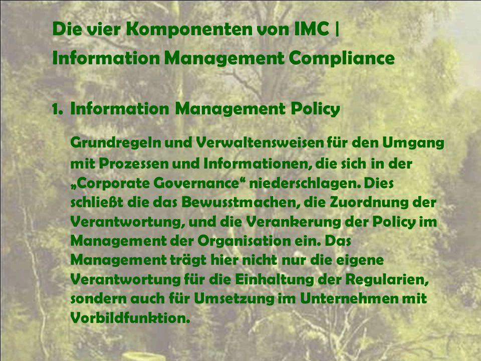 Die vier Komponenten von IMC |