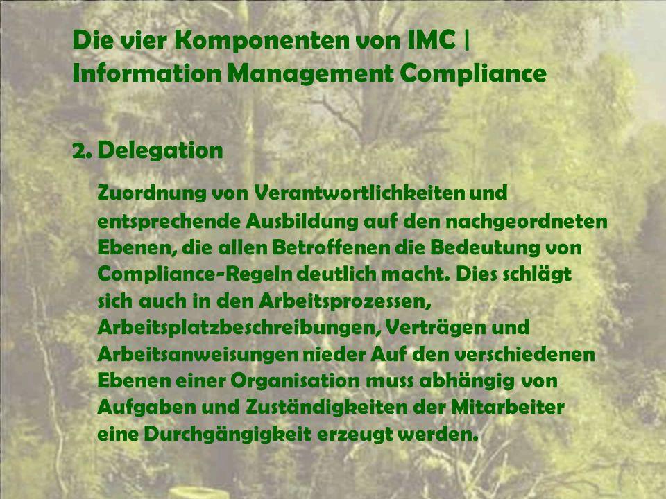 Die vier Komponenten von IMC | Information Management Compliance