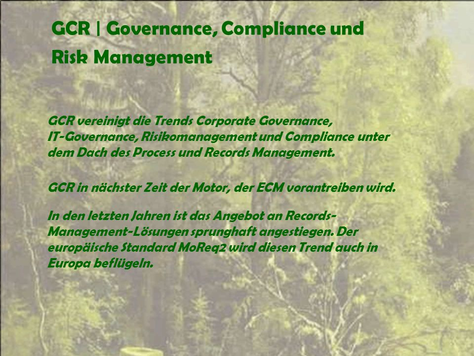 GCR | Governance, Compliance und Risk Management