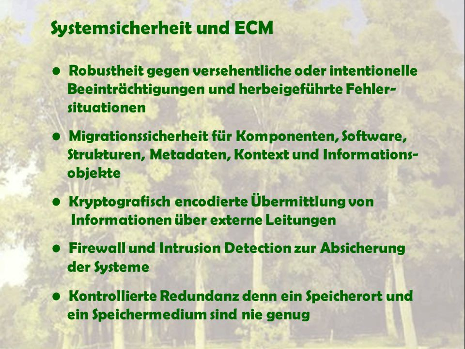Systemsicherheit und ECM