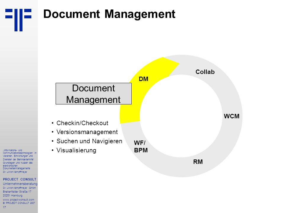 Document Management Document Management STORE Collab DM WCM