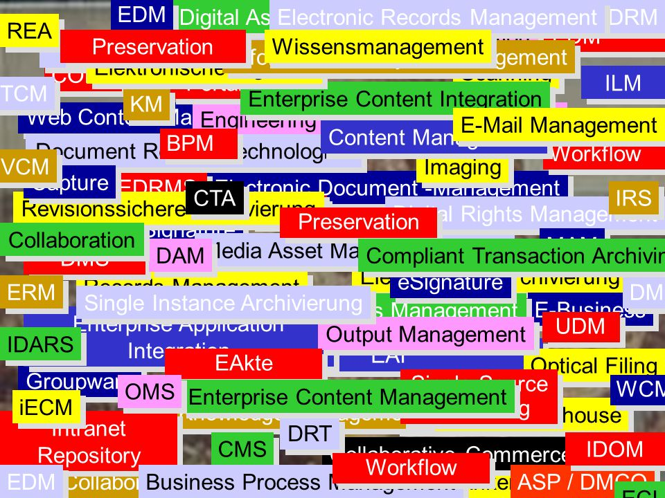 Digital Asset Management Electronic Records Management DRM REA