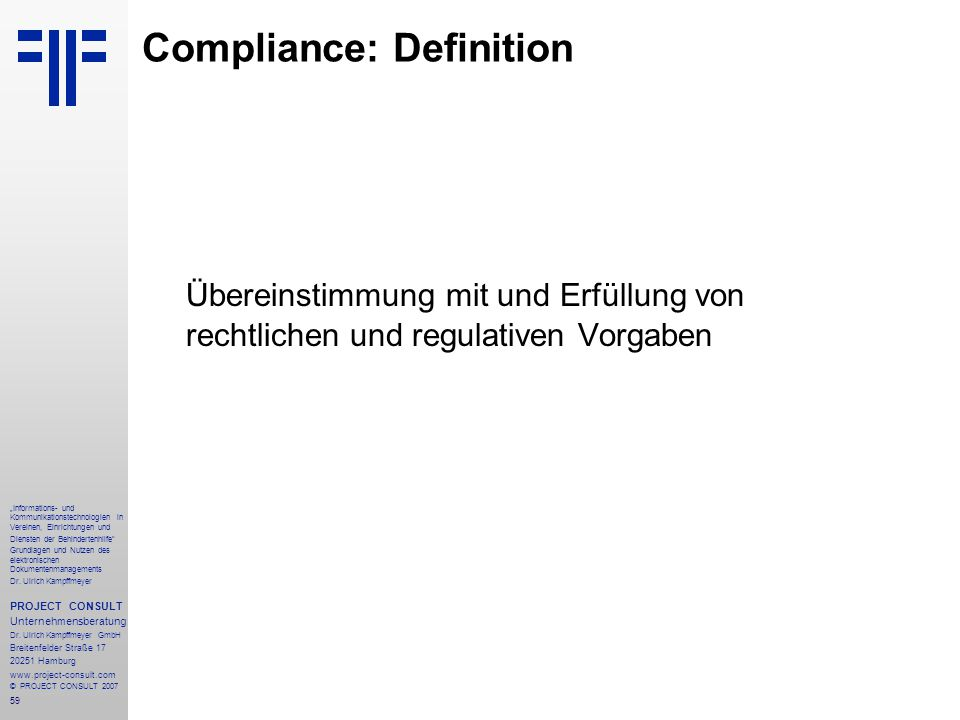 Compliance: Definition