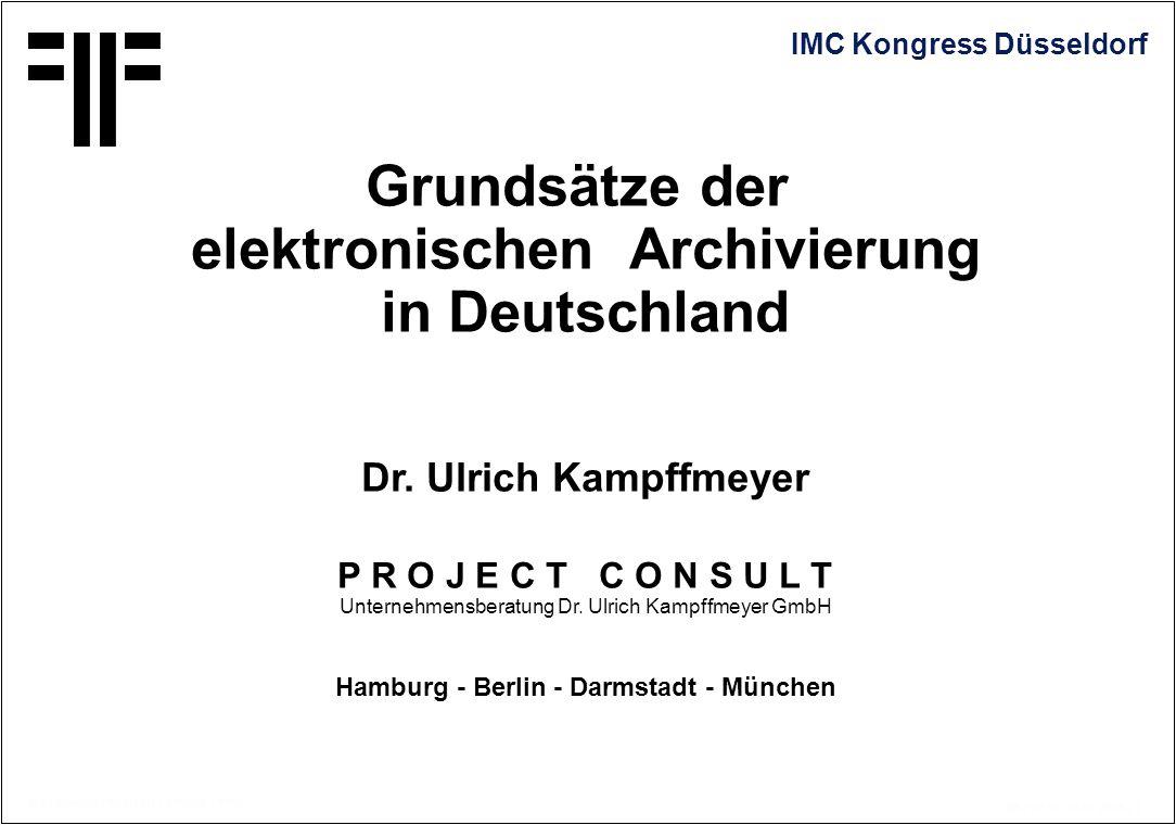 elektronischen Archivierung Hamburg - Berlin - Darmstadt - München
