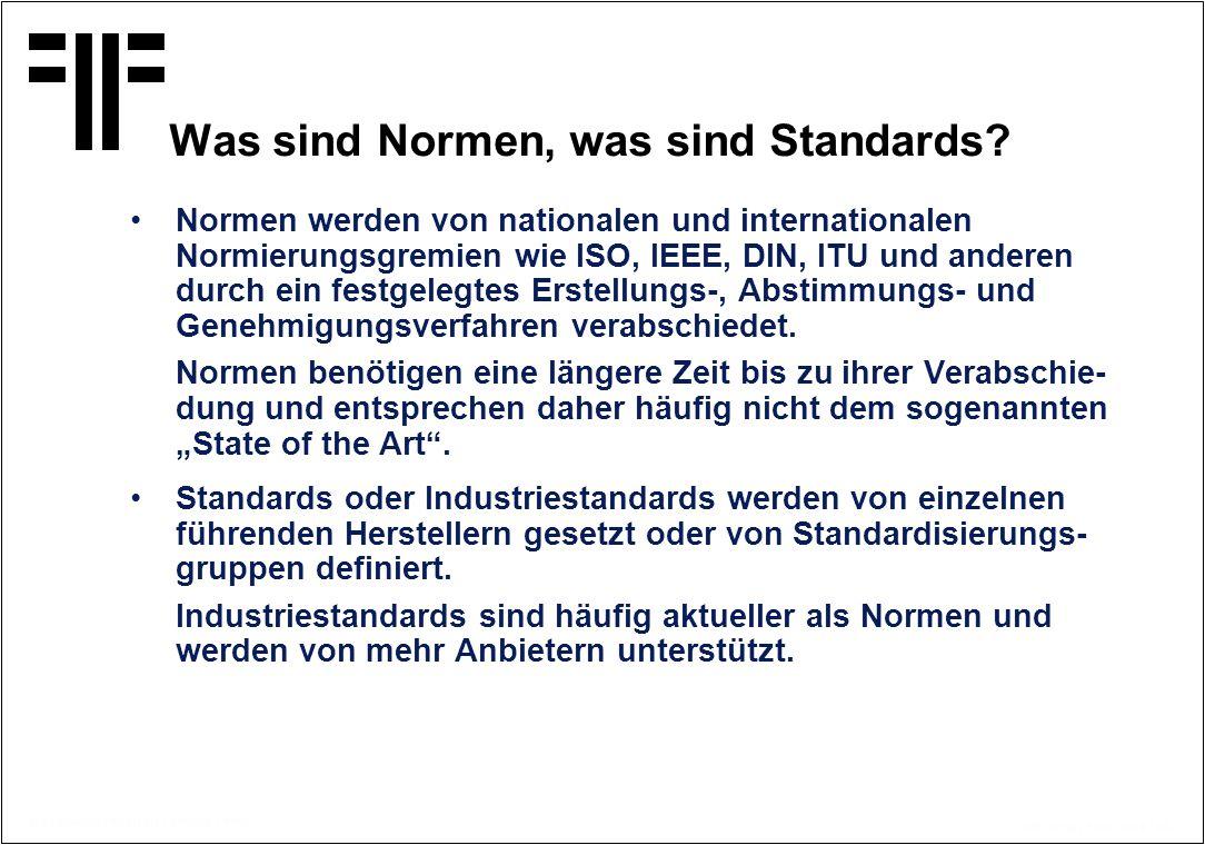 Was sind Normen, was sind Standards