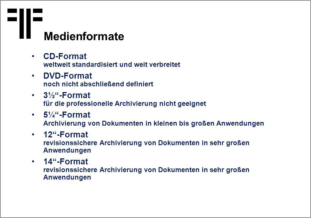 Medienformate CD-Format weltweit standardisiert und weit verbreitet