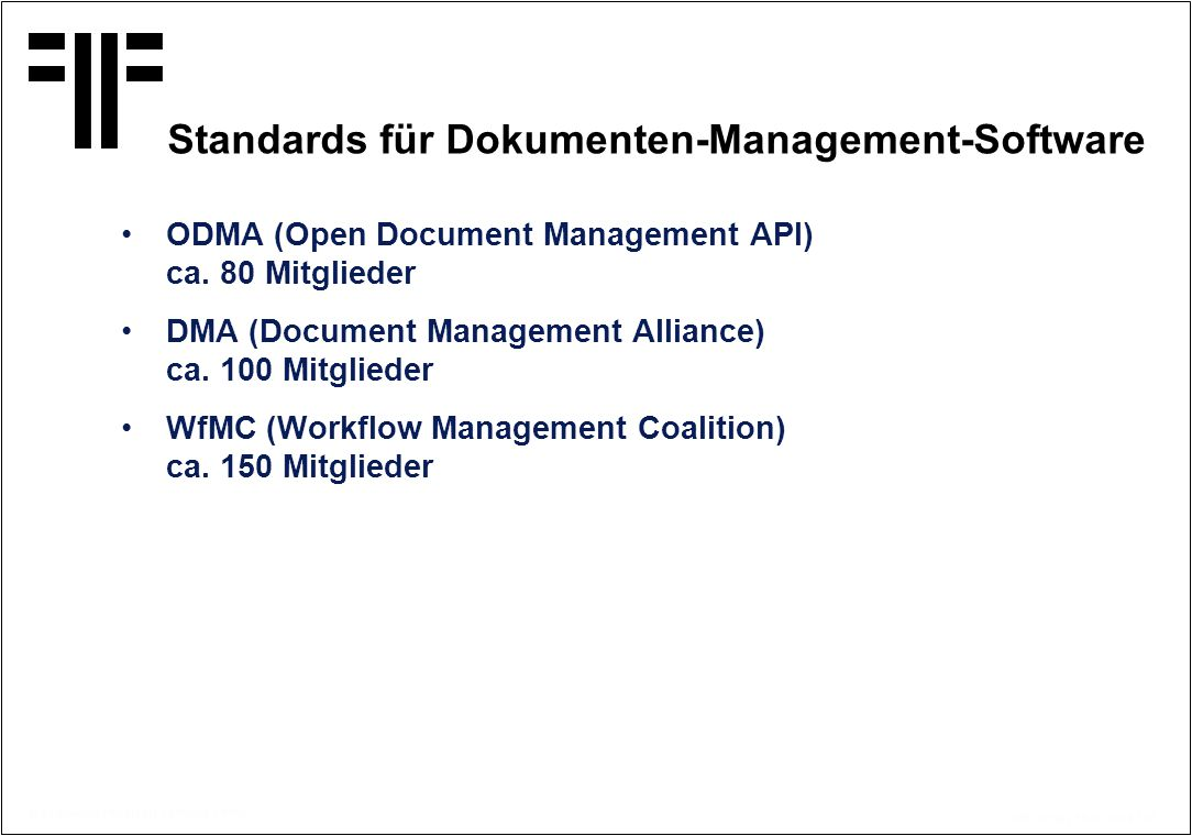 Standards für Dokumenten-Management-Software