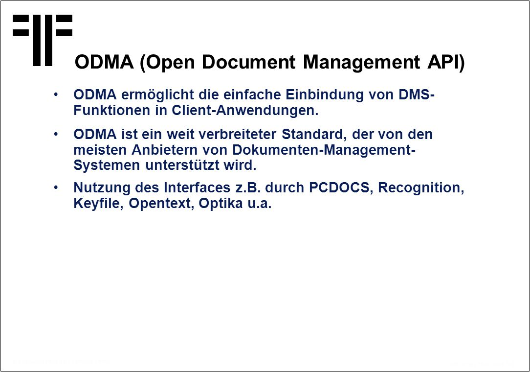 ODMA (Open Document Management API)
