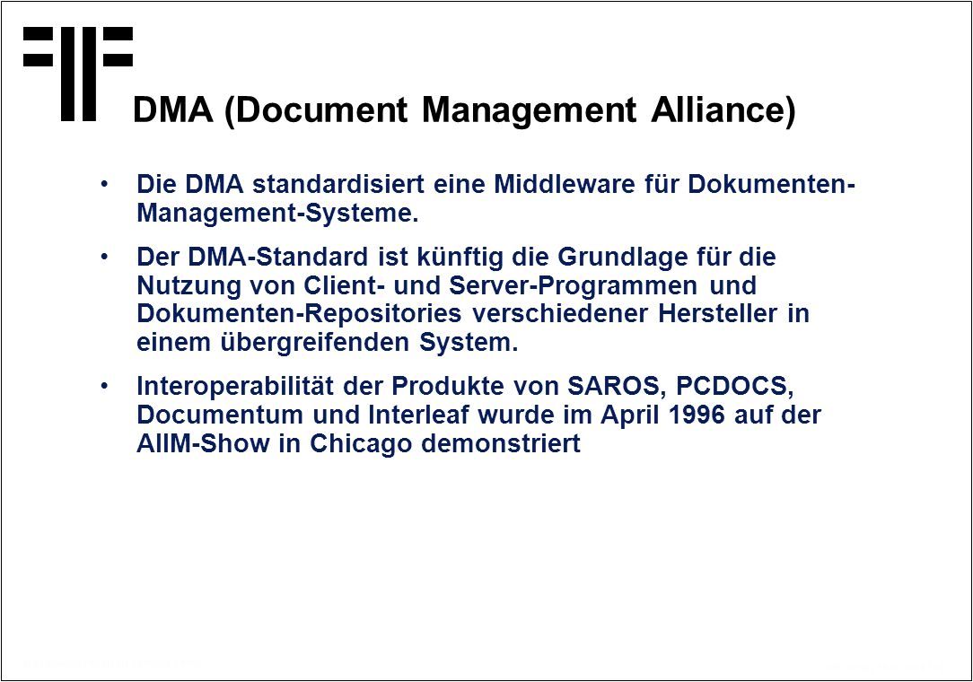 DMA (Document Management Alliance)